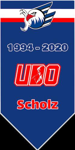 Udo hat seinen verdienten Platz unterm Hallendach